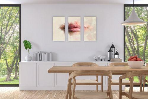 תמונה לפינת אוכל - Artpicked - שפתיים - מק''ט: 333301