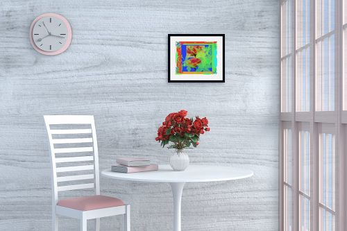 תמונה לפינת אוכל - יונה ראובני - ורדים צבעוניים - מק''ט: 132803