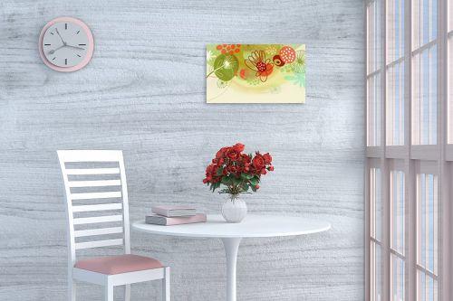 תמונה לפינת אוכל - נעמי עיצובים - פרחים שמחים - מק''ט: 158930