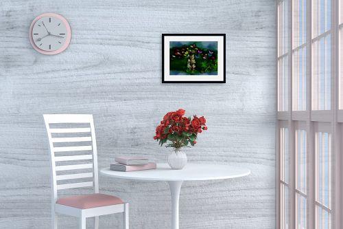 תמונה לפינת אוכל - ענת אומנסקי - פרח פרפרים - מק''ט: 190512