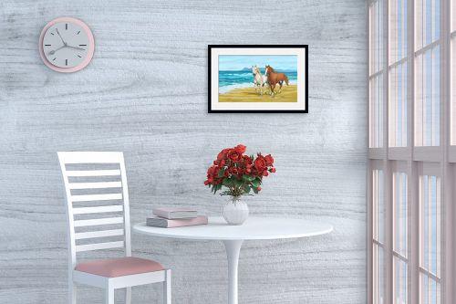 תמונה לפינת אוכל - נריה ספיר - דהרה על החוף - מק''ט: 259591