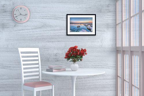 תמונה לפינת אוכל - איזבלה אלקבץ - זריחה בים המלח - מק''ט: 266732