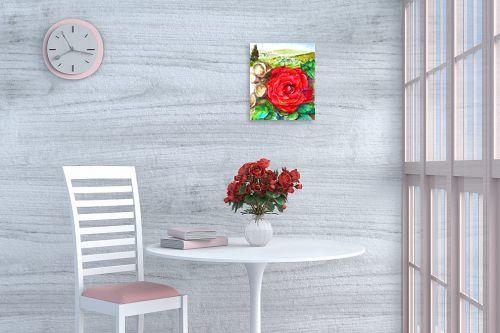 תמונה לפינת אוכל - חיה וייט - ורד אדום - מק''ט: 285559