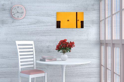 תמונה לפינת אוכל - אורית גפני - מינימליזם בצהוב - מק''ט: 299185