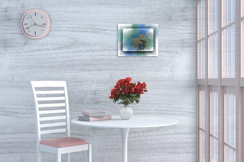 תמונה לפינת אוכל - רעיה גרינברג - פרחים במסגרת - מק''ט: 312160