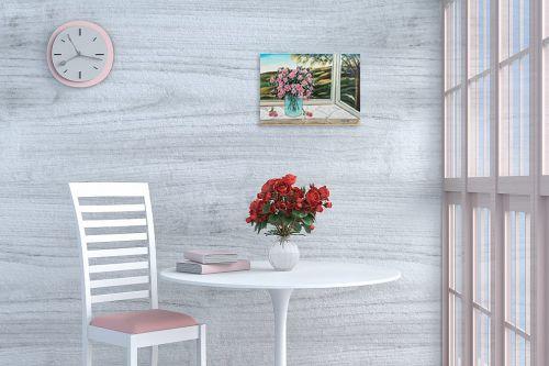 תמונה לפינת אוכל - מזל בוכריס - אגרטל פרחים - מק''ט: 316442