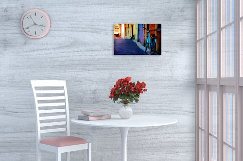 תמונה לפינת אוכל - אורית גפני - סמטה ציורית - מק''ט: 325110
