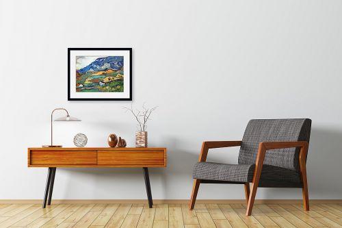 תמונה לחדרי המתנה - וינסנט ואן גוך - Les Alpilles אלפיל - מק''ט: 115390