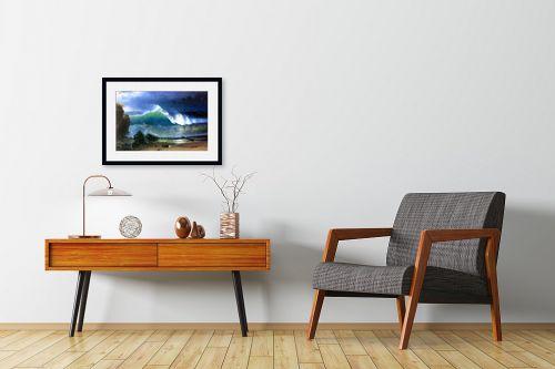 תמונה לחדרי המתנה - אלברט בירשטאדט - coast of the Turquoise se - מק''ט: 124652