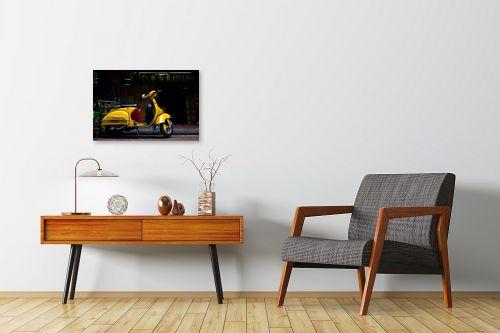 תמונה לחדרי המתנה - ניר אלון - וספה צהובה - מק''ט: 129156