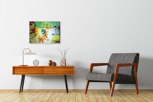 תמונה לחדרי המתנה - דוד סלע - ציור קיר - מק''ט: 140730