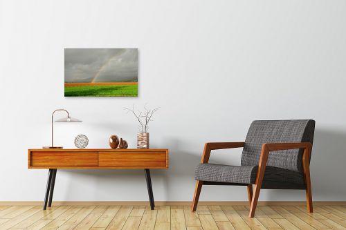 תמונה לחדרי המתנה - אייל הצפון - קשת בשדה ירוק - מק''ט: 155960