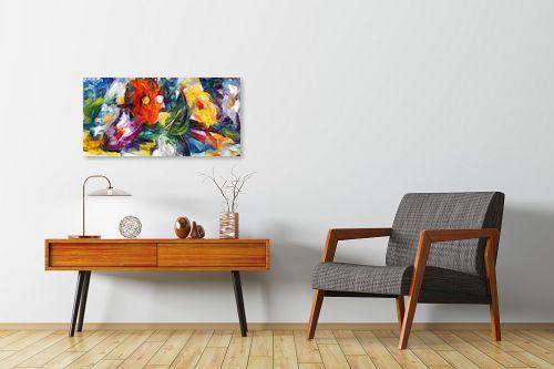 תמונה לחדרי המתנה - בן רוטמן - צר, ארוך וצבעוני - מק''ט: 156207
