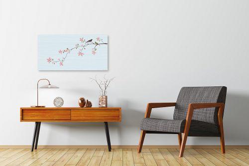 תמונה לחדרי המתנה - נעמי עיצובים - שתי צפורים - מק''ט: 160391