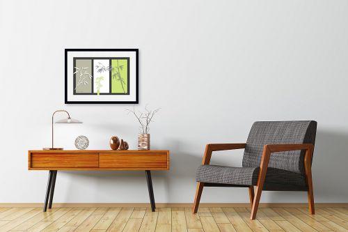 תמונה לחדרי המתנה - נעמי עיצובים - במבוק על אפור - מק''ט: 160920