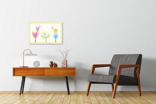תמונה לחדרי המתנה - נעמי עיצובים - אהבת ינשופים - מק''ט: 162021