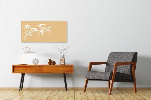 תמונה לחדרי המתנה - נעמי עיצובים - ענף במבוק בהיר - מק''ט: 162718