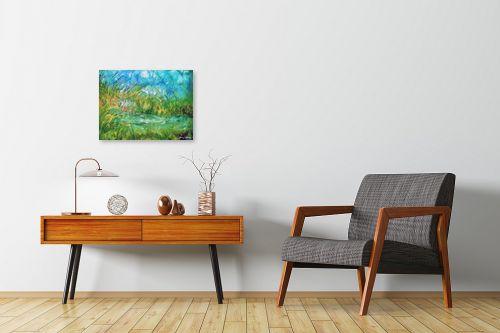 תמונה לחדרי המתנה - בן רוטמן - ירוק ועוד ירוק,,, - מק''ט: 170895