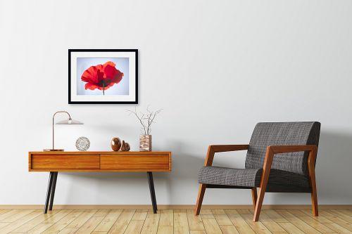 תמונה לחדרי המתנה - איה אפשטיין - פרג בשמש 2# - מק''ט: 175429