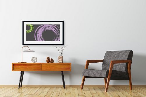 תמונה לחדרי המתנה - נעמי עיצובים - עיגול בסגול אפור - מק''ט: 189079