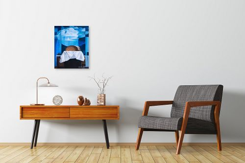 תמונה לחדרי המתנה - חנה כרמי - לחם על רקע חלונות - מק''ט: 197249