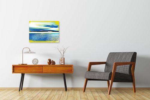 תמונה לחדרי המתנה - רוזה לשצ'ינסקי - ים צהוב - מק''ט: 203683