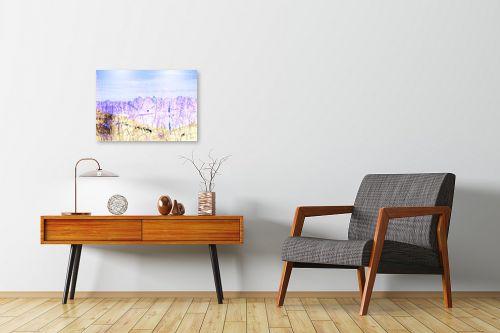 תמונה לחדרי המתנה - רוזה לשצ'ינסקי - נוף כחול - מק''ט: 203686