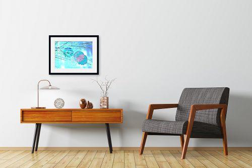 תמונה לחדרי המתנה - רוזה לשצ'ינסקי - פרח תכלת - מק''ט: 203788