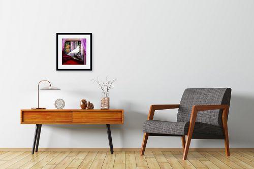 תמונה לחדרי המתנה - נריה איטקין - יונה לבנה בחלון - מק''ט: 229845