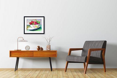 תמונה לחדרי המתנה - חיה וייט - קערת תות שדה - מק''ט: 229882