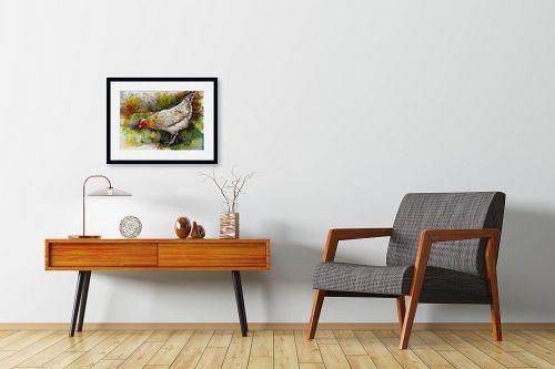 תמונה לחדרי המתנה - חיה וייט - תרנגולת - מק''ט: 259310