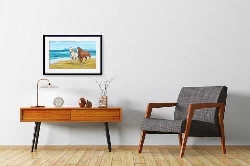 תמונה לחדרי המתנה - נריה ספיר - דהרה על החוף - מק''ט: 259591