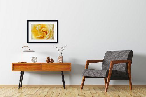 תמונה לחדרי המתנה - איזבלה אלקבץ - סיחרור צהוב - מק''ט: 267022