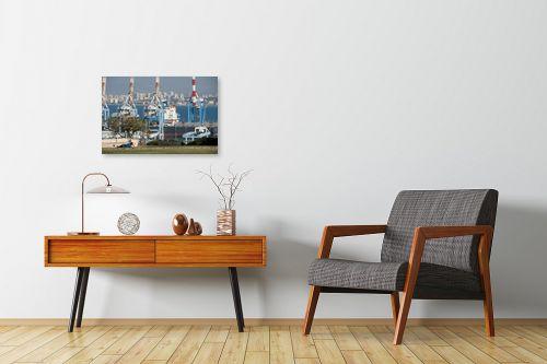 תמונה לחדרי המתנה - אורי לינסקיל - מעל הנמל - מק''ט: 275156