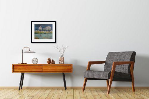 תמונה לחדרי המתנה - רינה יניב - חורף באגם - מק''ט: 285642