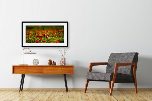 תמונה לחדרי המתנה - אורית גפני - כלניות באור זהב 2 - מק''ט: 297567