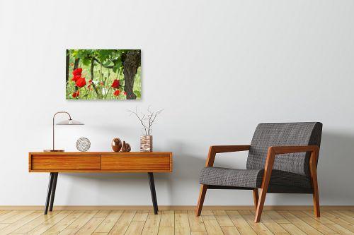 תמונה לחדרי המתנה - אורי לינסקיל - פרגים בכרם - מק''ט: 301107