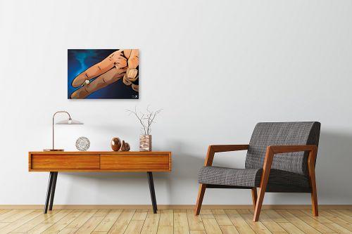 תמונה לחדרי המתנה - חנן אביסף - אצבעות מחזיקות סיגריה - מק''ט: 302948