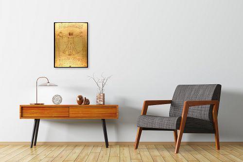 תמונה לחדרי המתנה - לאונרדו דה וינצי - האדם הוויטרובי - מק''ט: 303470