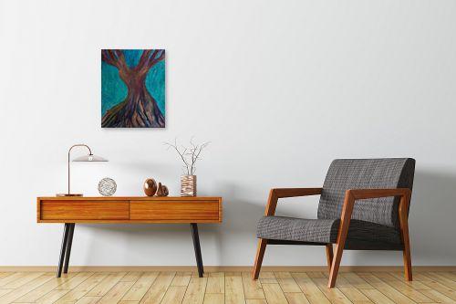 תמונה לחדרי המתנה - אסתר חן-ברזילי - עץ מרקד - מק''ט: 306208