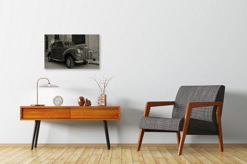 תמונה לחדרי המתנה - מאיר בר-אל - מכונית ישנה - מק''ט: 306382