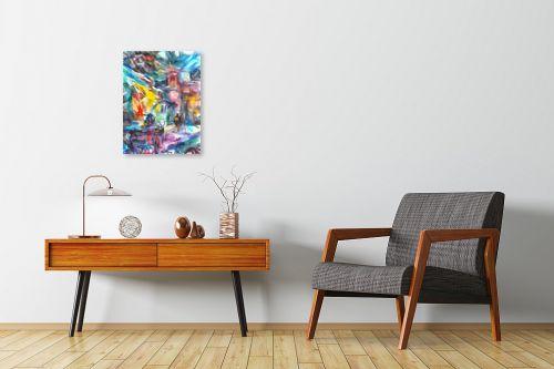 תמונה לחדרי המתנה - בן רוטמן - רייחות וצבעים בסימטאות - מק''ט: 307082