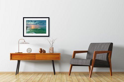 תמונה לחדרי המתנה - ניקולאי טטרצ'וק - זריחה בים המלח - מק''ט: 308329