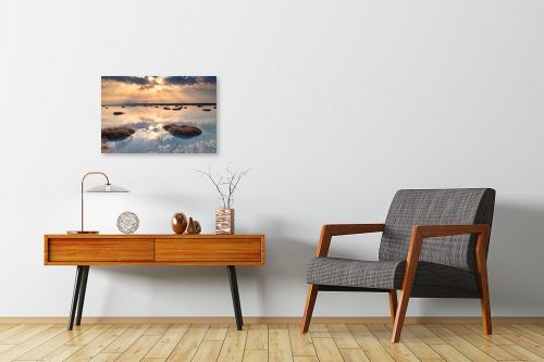 תמונה לחדרי המתנה - ניקולאי טטרצ'וק - זריחה בים המלח - מק''ט: 308331