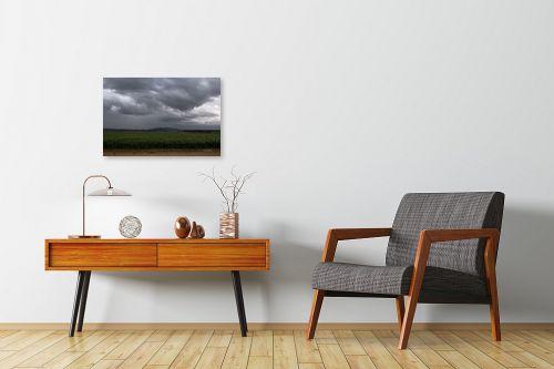 תמונה לחדרי המתנה - אלעד דרור - שדה חיטה ביום גשם - מק''ט: 313046