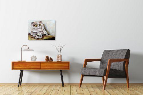 תמונה לחדרי המתנה - מריאנה קיידלוב - חתול שלי - מק''ט: 319109