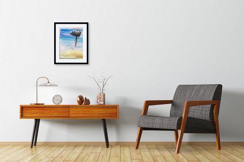 תמונה לחדרי המתנה - אילה ארויו - סירה בים - מק''ט: 320526