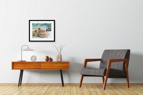 תמונה לחדרי המתנה - חיה וייט - מדרגות עין כרם  - מק''ט: 326513