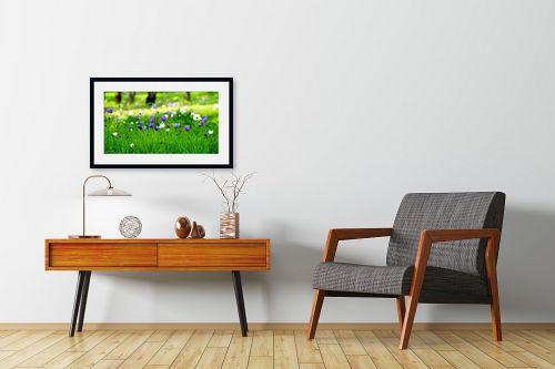 תמונה לחדרי המתנה - אורית גפני - מופע בסגול לבן - מק''ט: 326933