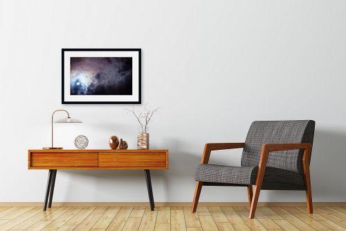 תמונה לחדרי המתנה - איה אפשטיין - ירח בעננים - מק''ט: 327135